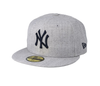 NEW ERA HEATHER GREY 59FIFTY FITTED CAP. NEW YORK YANKEES. MLB from peaknation.co.uk