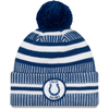 NEW ERA ON FIELD 2019 SPORT KNIT BOBBLE BEANIE. INDIANAPOLIS COLTS
