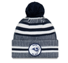 NEW ERA ON FIELD 2019 SPORT KNIT BOBBLE BEANIE. LOS ANGELES RAMS