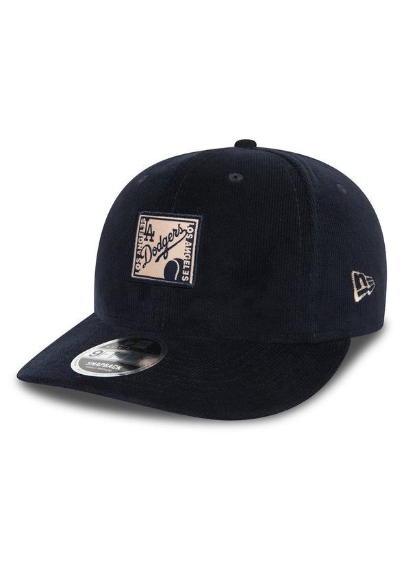 NEW ERA MLB PATCH 9FIFTY SNAPBACK CAP. LOS ANGELES DODGERS. NAVY from peaknation.co.uk