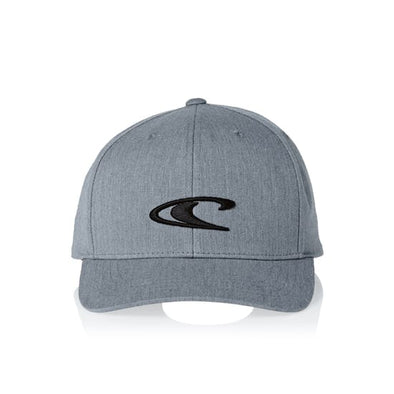 "O'NEILL ""WAVE CAP"" MENS ADJUSTABLE CAP. SILVER MELEE"