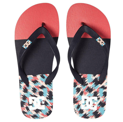 DC SPRAY GRAFFIK MENS FLIP FLOPS. RED/STRIPE (RDS)