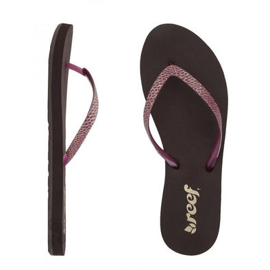 "REEF ""STARGAZER SASSY"" WOMEN'S FLIP FLOPS. BROWN/BERRY"