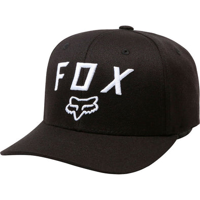 FOX RACING 'LEGACY MOTH 110' FLEXFIT HAT. BLACK