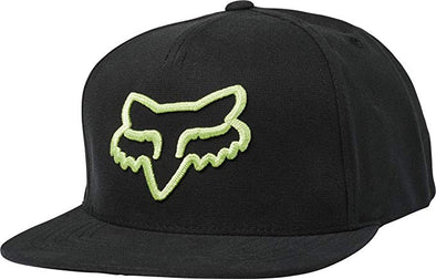 FOX RACING INSTILL SNAPBACK CAP. BLACK/GREEN