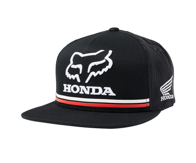 FOX RACING HONDA SNAPBACK CAP. BLACK