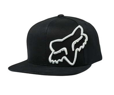 FOX RACING HEADERS SNAPBACK CAP. BLACK