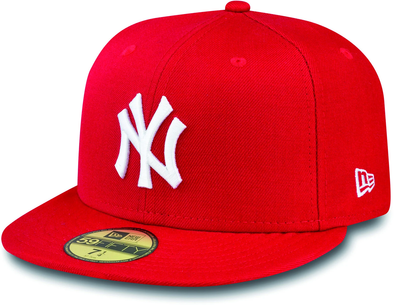 NEW ERA 59FIFTY FITTED CAP. NEW YORK YANKEES. SCARLET