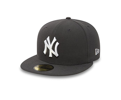 NEW ERA 59FIFTY FITTED CAP. NEW YORK YANKEES. GRAPHITE