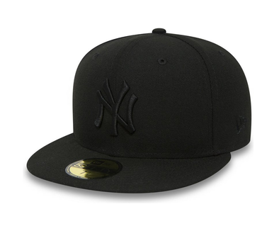 NEW ERA 59FIFTY FITTED CAP. NEW YORK YANKEES. BLACK/BLACK