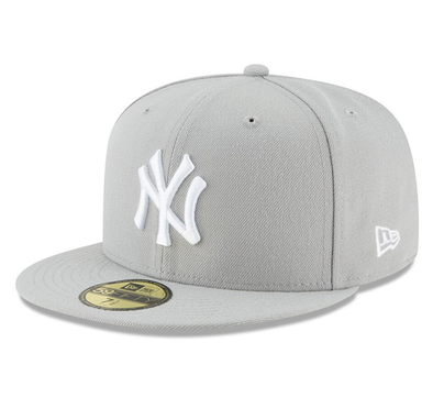 NEW ERA 59FIFTY FITTED CAP. NEW YORK YANKEES. GREY