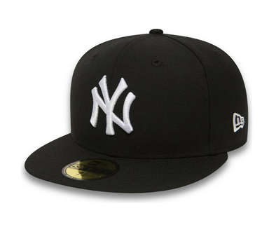 NEW ERA 59FIFTY FITTED CAP. NEW YORK YANKEES. BLACK/WHITE
