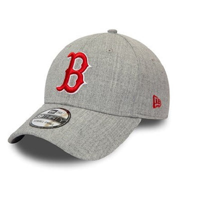 NEW ERA HEATHER GREY 39THIRTY FITTED CAP. BOSTON RED SOX from peaknation.co.uk