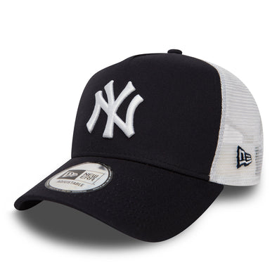 New Era - Clean Trucker Cap. NEW YORK YANKEES. NAVY/WHITE.