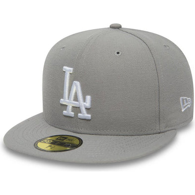 NEW ERA 59FIFTY FITTED CAP. LOS ANGELES DODGERS. GREY/WHITE