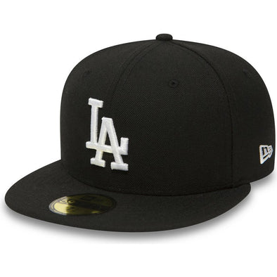 NEW ERA 59FIFTY FITTED CAP. LOS ANGELES DODGERS. BLACK/WHITE