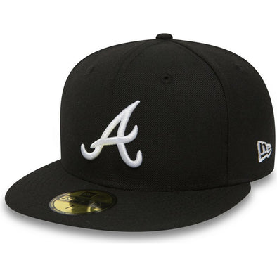 NEW ERA - 59FIFTY FITTED CAP. ATLANTA BRAVES. BLACK. (RRP £30)