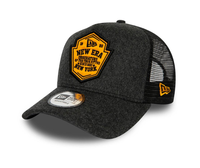 NEW ERA WOOL PATCH A FRAME TRUCKER. NEW ERA