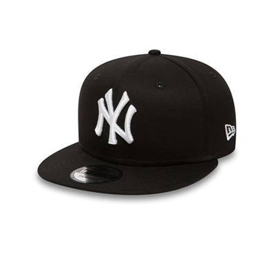 NEW ERA 9FIFTY SNAPBACK BASEBALL CAP. NEW YORK YANKEES. BLACK/WHITE