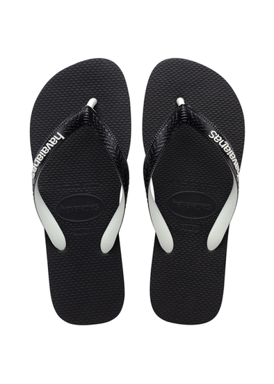 HAVAIANAS TOP MIX MENS FLIP FLOPS. BLACK/BLACK