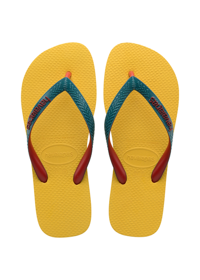 HAVAIANAS TOP MIX MENS FLIP FLOPS. GOLD YELLOW