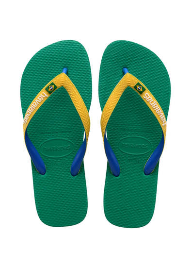 HAVAIANAS BRASIL MIX MENS FLIP FLOPS. TROPICAL GREEN