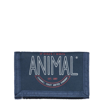 "Animal ""Clifton"" Mens 3 Leaf Wallet. Dark Navy"