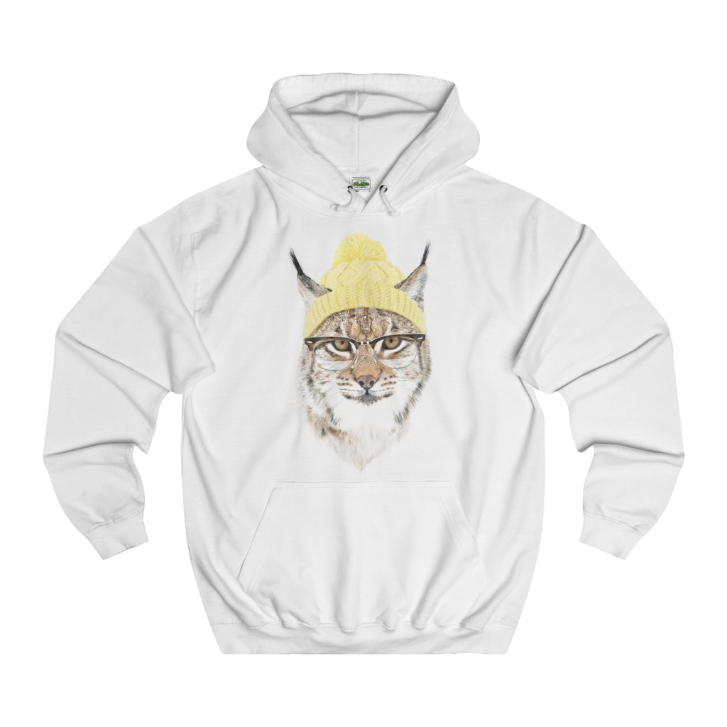 Arctic White | Cold Cat College Hoodie - Style has no boundaries.com