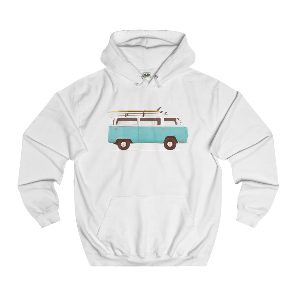 Hip Surf Camper College Hoodie - Style has no boundaries.com