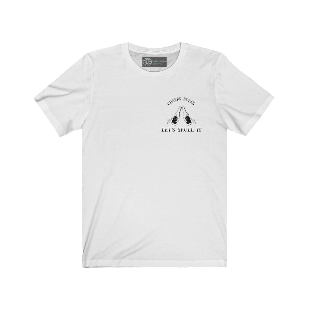 White | Cheers Bones T-Shirt - Style has no boundaries.com