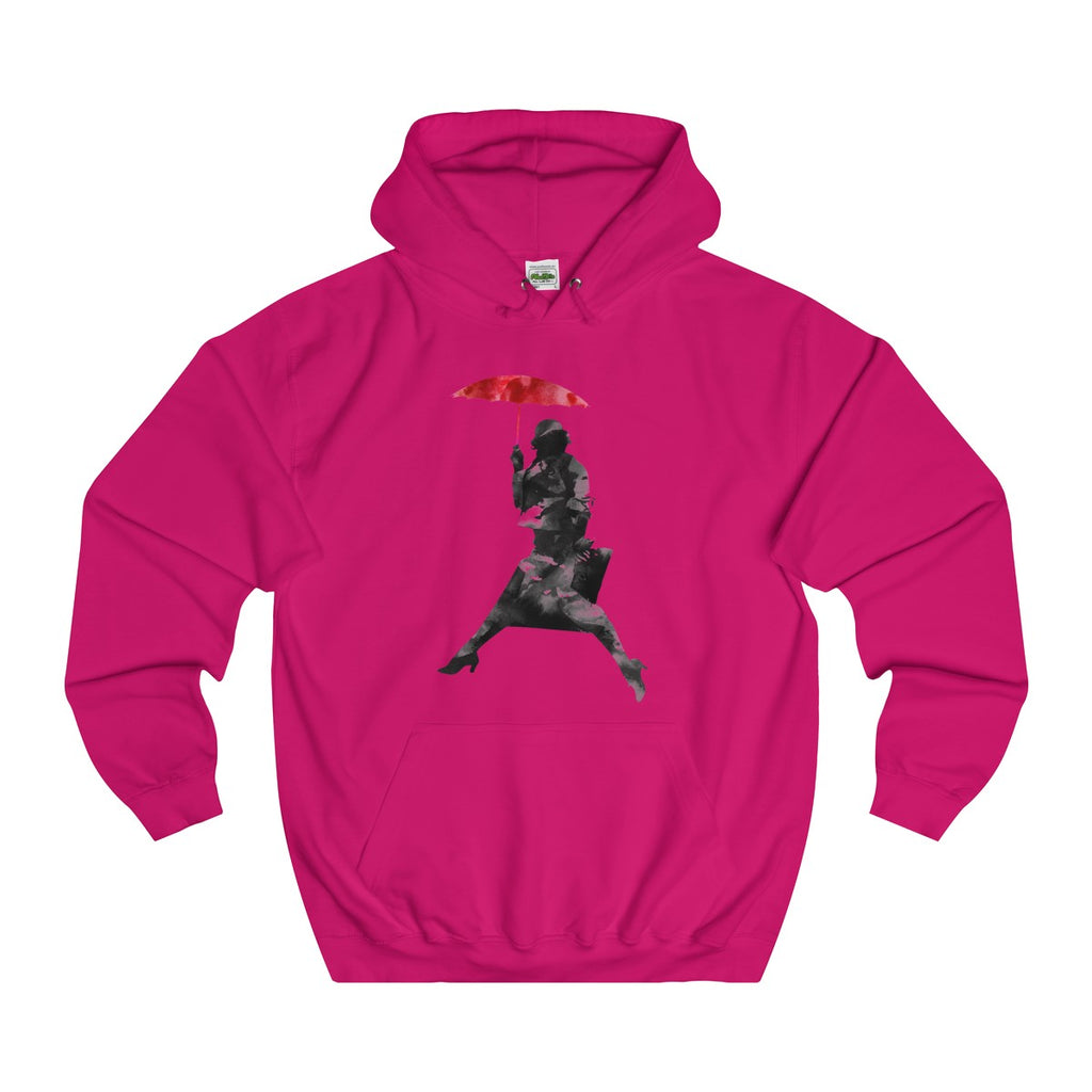 Hot Pink | Puddle Jumper College Hoodie - Style has no boundaries.com