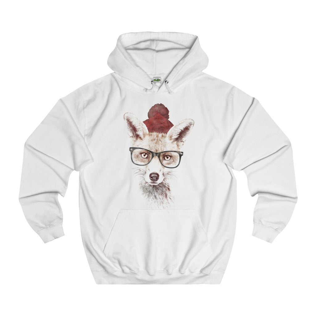 Arctic White | Cold Fox College Hoodie - Style has no boundaries.com