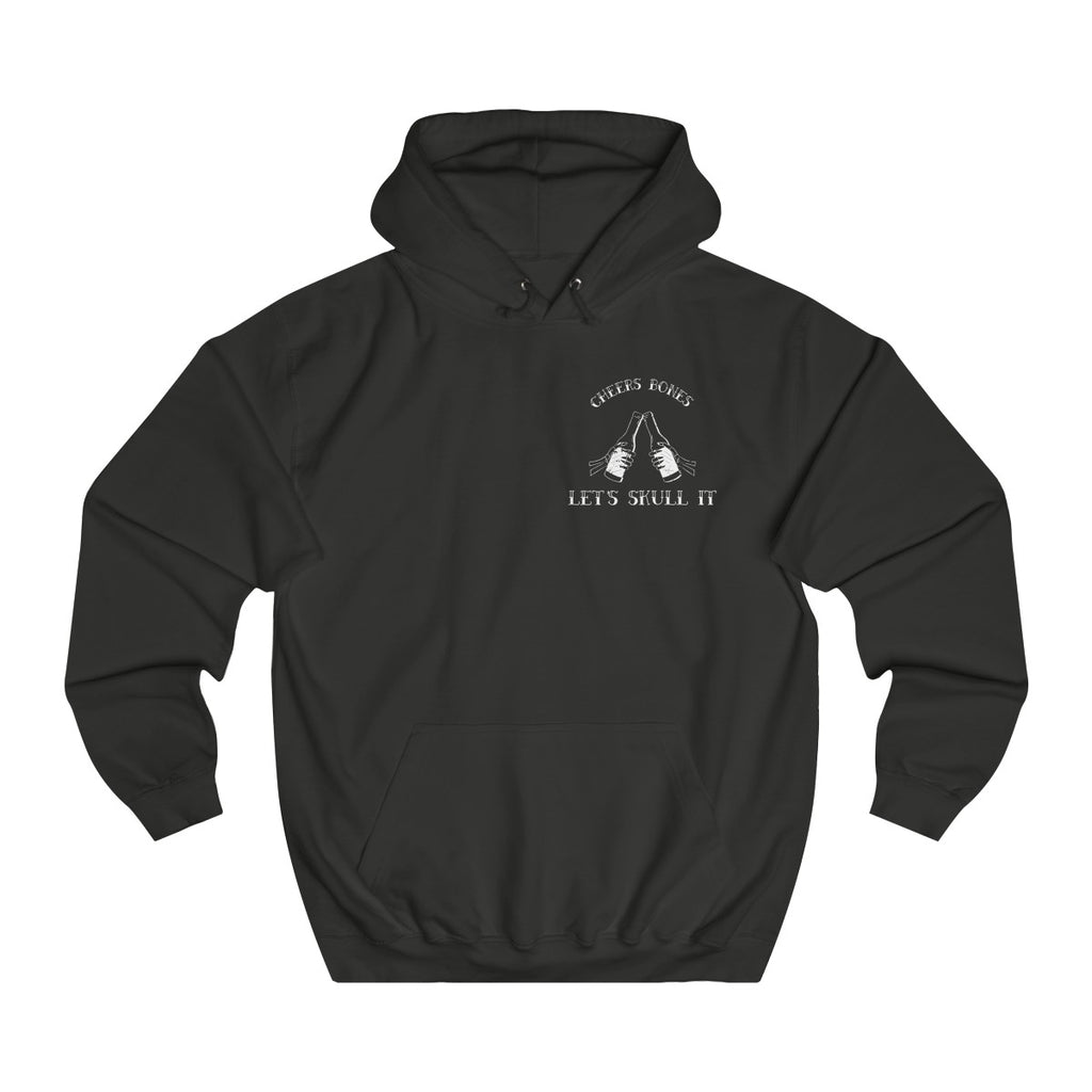 Jet Black | Cheers Bones College Hoodie - Style has no boundaries.com