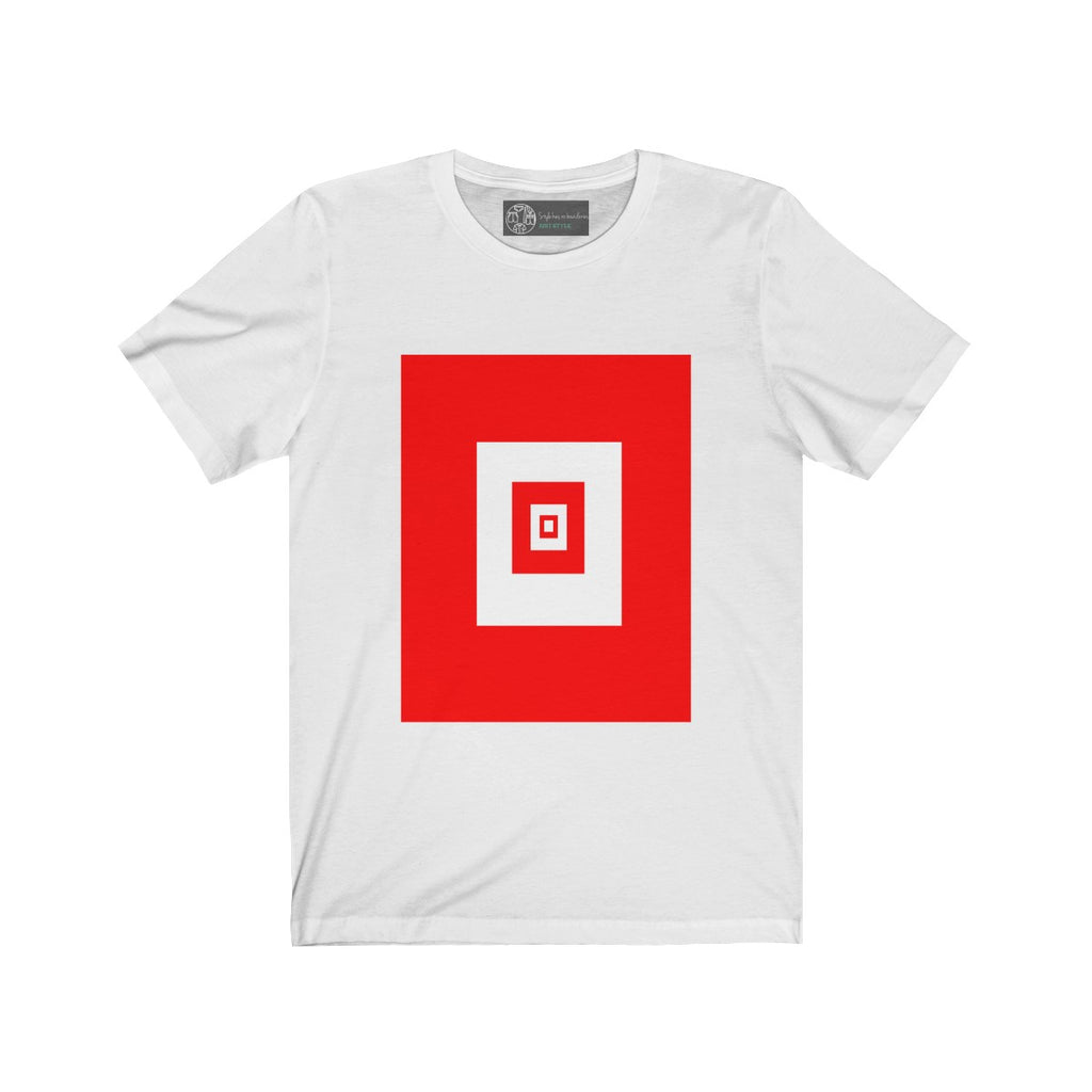 White | Red Squares T-Shirt - Style has no boundaries.com