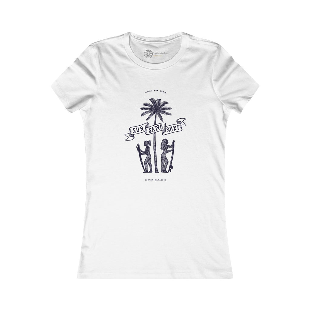 White | Sun & Surf T-Shirt - Style has no boundaries.com
