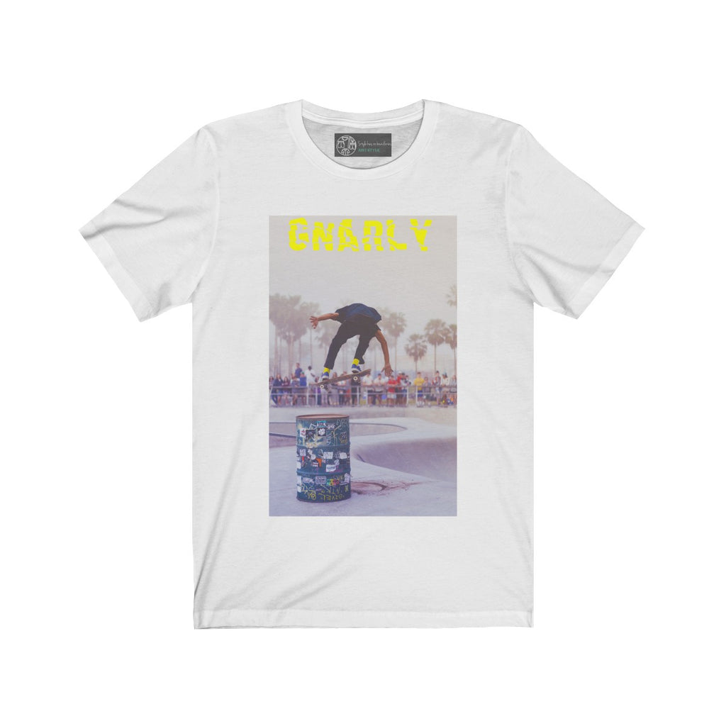 White | Gnarly T-Shirt - Style has no boundaries.com