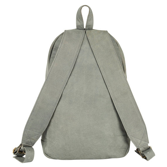 Grey Suede Backpack - Style has no boundaries.com