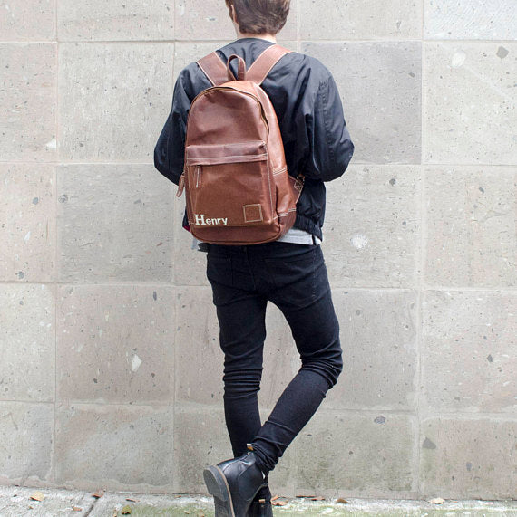 Vintage Brown Backpack - Style has no boundaries.com