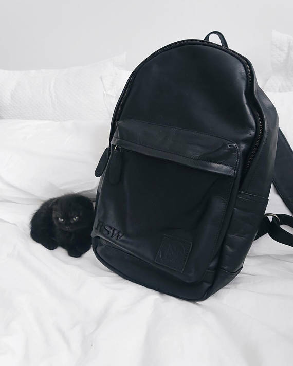 Black Leather Backpack - Style has no boundaries.com