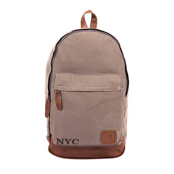 Grey Canvas Backpack - Style has no boundaries.com