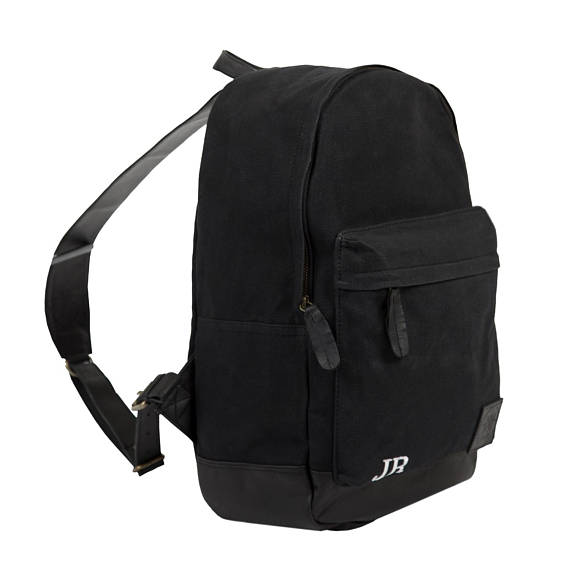 Black Canvas Backpack - Style has no boundaries.com