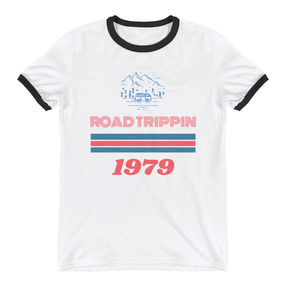White/Black | Road Trippin Ringer T-Shirt - Style has no boundaries.com