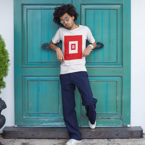 Red Squares T-Shirt - Style has no boundaries.com