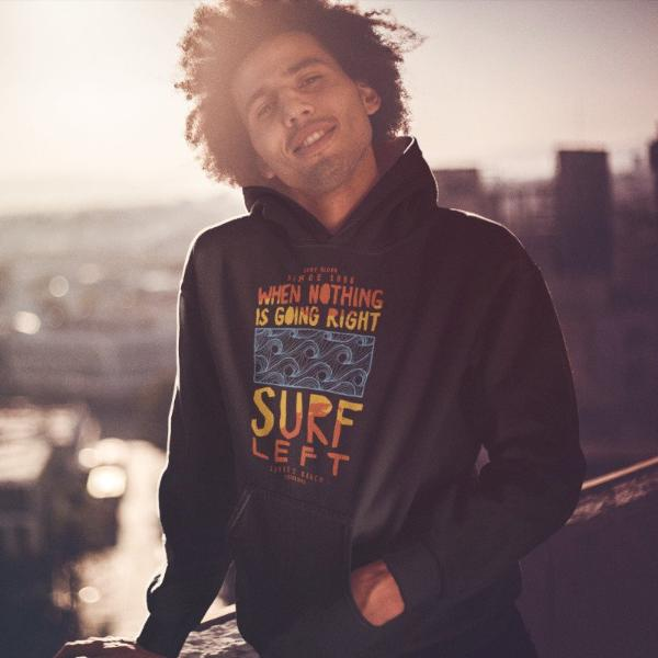 Surf Left College Hoodie - Style has no boundaries.com