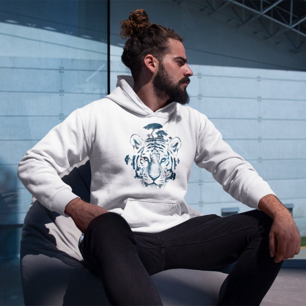 White Tiger College Hoodie - Style has no boundaries.com