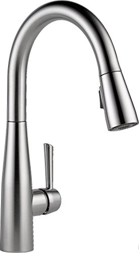Delta Faucet 9113-AR-DST Essa Single Handle Pull-Down Kitchen Faucet with Magnatite Docking and Touch-Clean Spray Head, Arctic Stainless