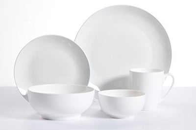 Gibson Home 30 Piece Ogallala Dinnerware Set, White