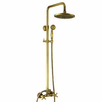 WAWZJ Bathroom Shower Set All Copper European Antique Shower Shower Suit Without Shower