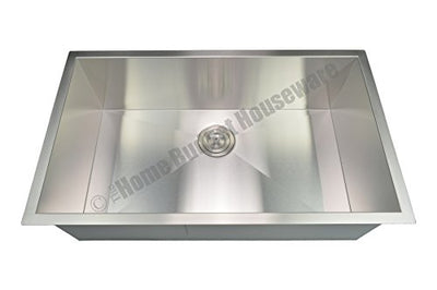 "Blue Ocean 32"" KSR105 16 Gauge Stainless Steel Undermount Kitchen Sink with FREE Grid and Strainer"