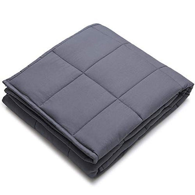 YnM Weighted Blanket for Couple, 30 lbs 80''x87'' King Size | 100% Cotton Material with Glass Beads A Dark Grey Premium Cotton Duvet Cover